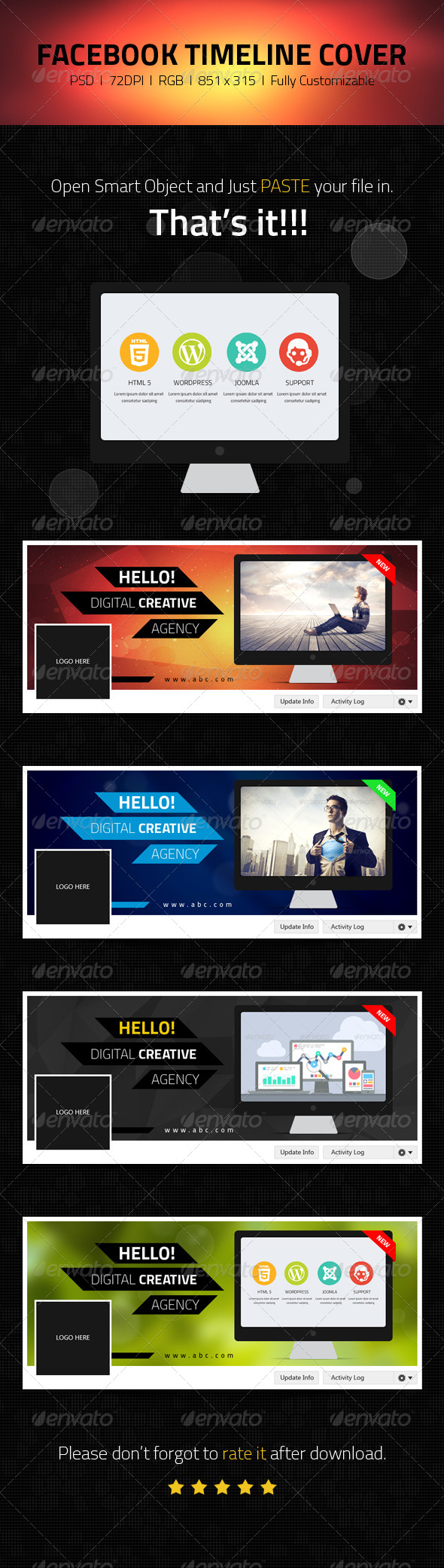 GraphicRiver Facebook Timeline Cover Web IT Companies 6925097