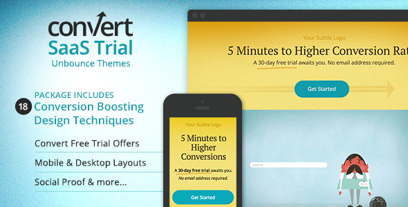 Landing Page for Startups - Unbounce Template