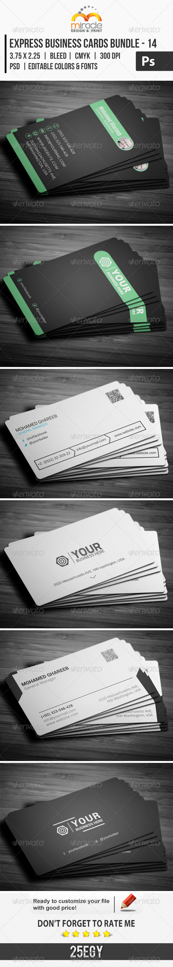 GraphicRiver Express Business Cards Bundle 14 7166133
