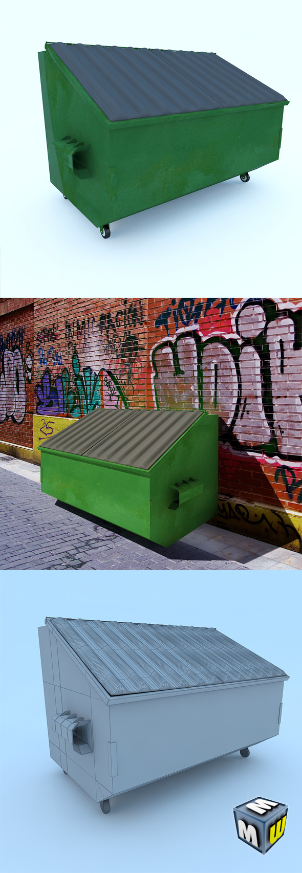 3DOcean Trash Container 7166373