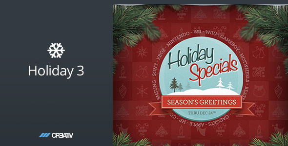Holiday 3 - HTML Email