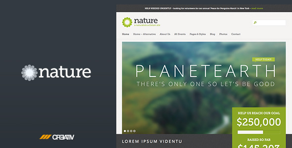 Nature - Responsive HTML5 Template