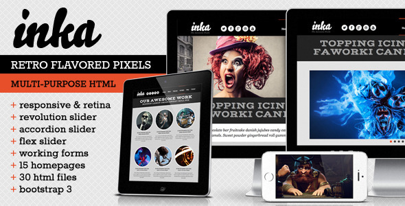 INKA - Retro Responsive Multi-Purpose Template - Portfolio Creative