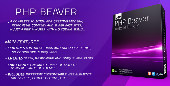 CodeCanyon PHP Beaver Drag and Drop Website Builder 7167427