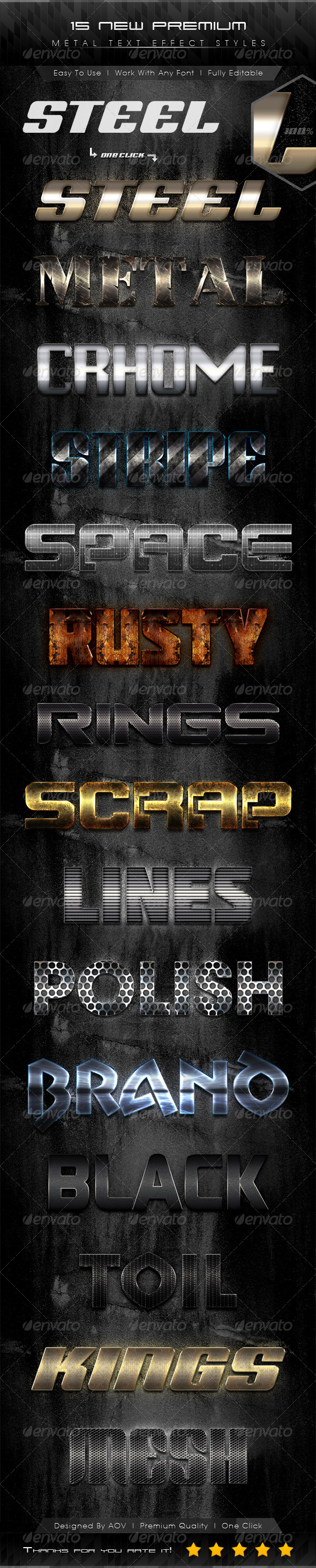 GraphicRiver 15 New Premium Metal Text Effect Styles 7167525