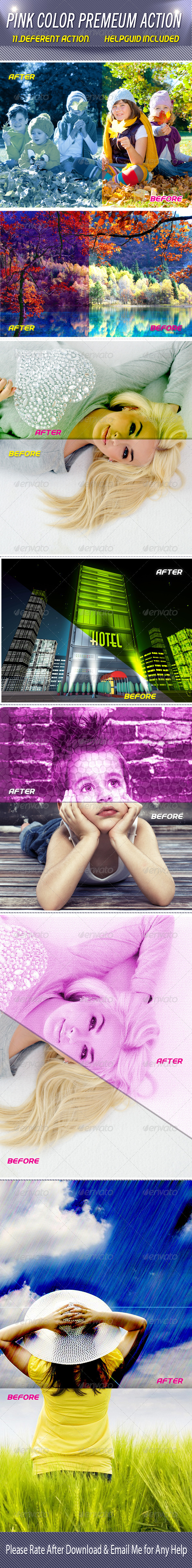 GraphicRiver Pink Color Premium Action 7169047