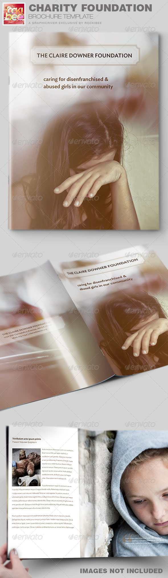 GraphicRiver Charity Foundation Brochure Template 7169079