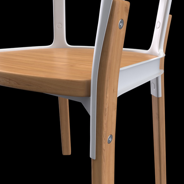 steelwood chair... - 3DOcean Item for Sale