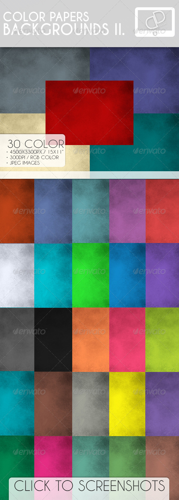 GraphicRiver Color Paper Backgrounds II 7169205