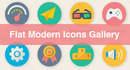 * Flat Modern Icons Gallery