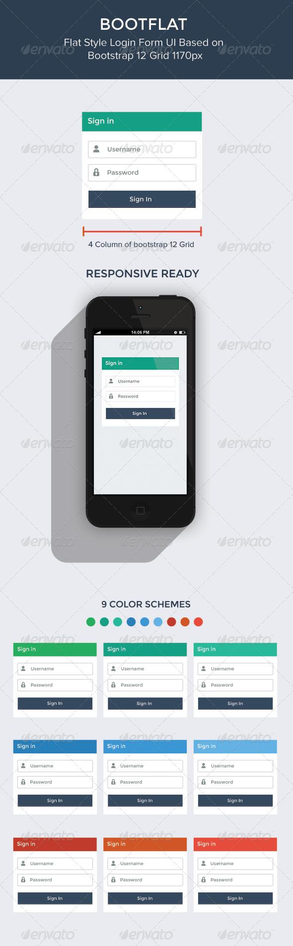 GraphicRiver Bootflat Login Form 7169487