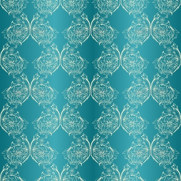 GraphicRiver Damask Seamless with Lace Ornament 7169928
