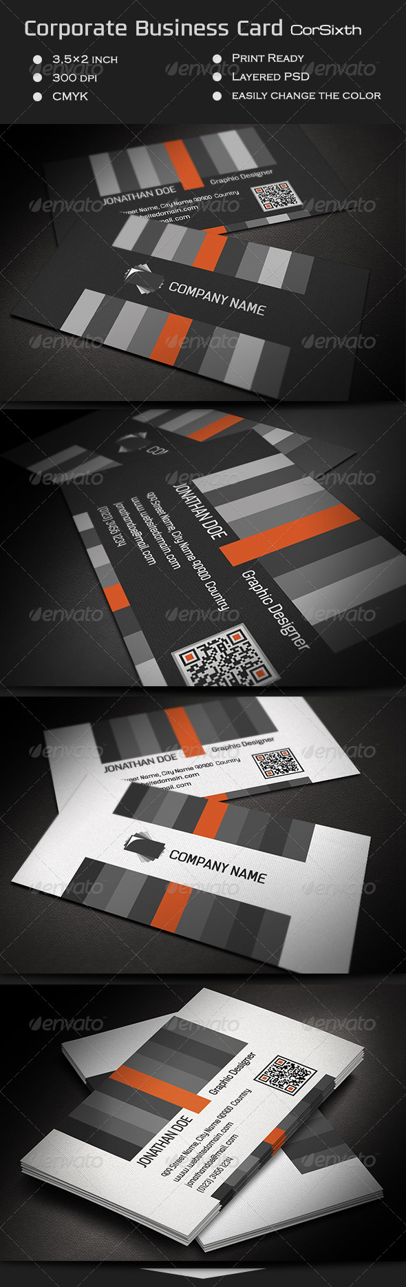 GraphicRiver Corporate Business Card CorSixth 7161013