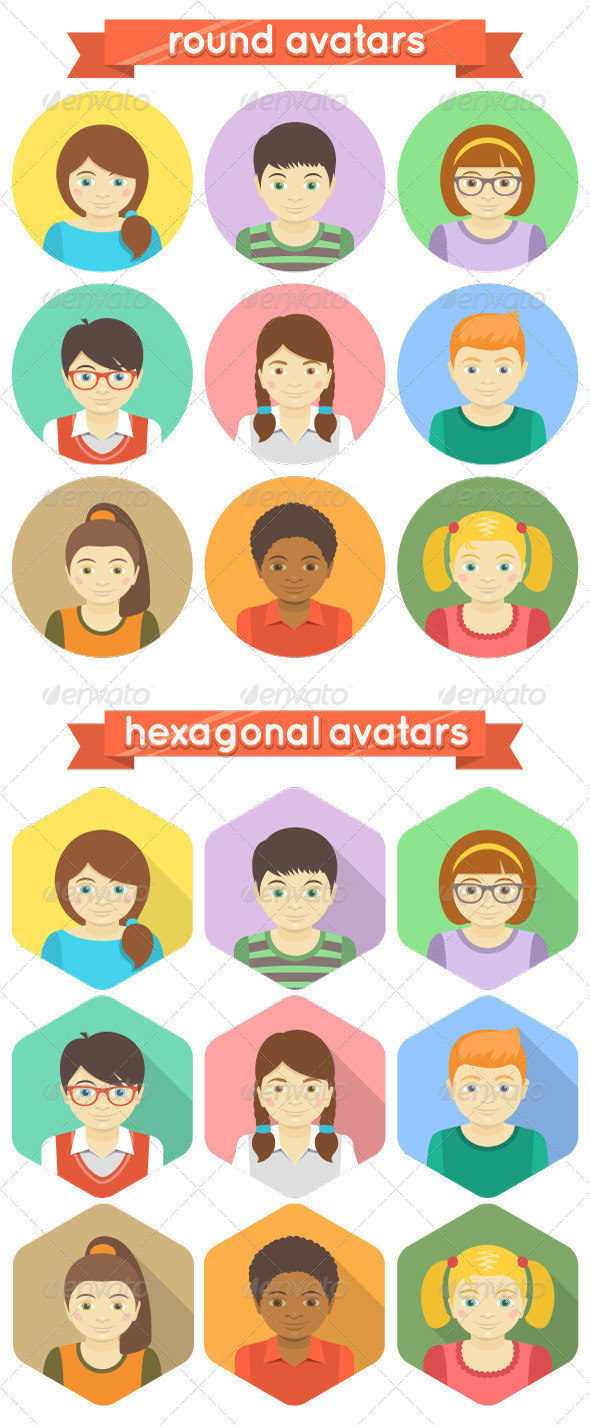 GraphicRiver Kids Avatars 7170559