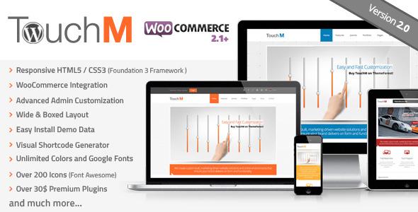 TouchM Responsive WooCommerce Premium Theme