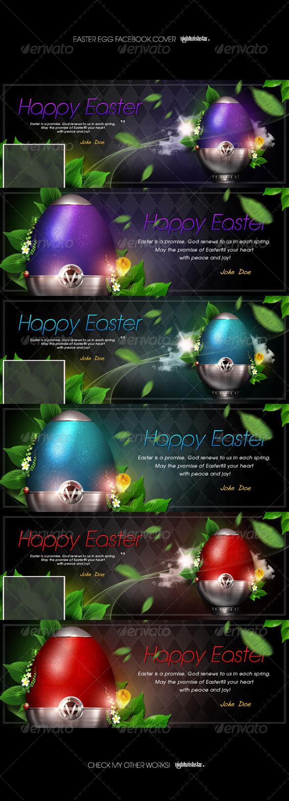 GraphicRiver Elegant Easter Egg Facebook Timeline Cover 7170649