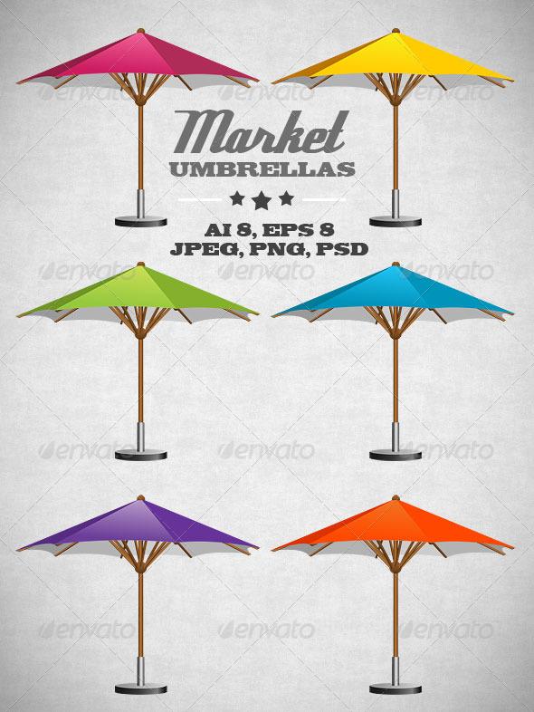 GraphicRiver Market Umbrellas 7170678