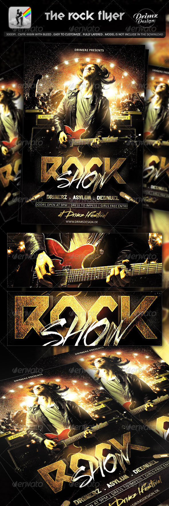 GraphicRiver The Rock Flyer 7170700