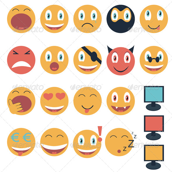 GraphicRiver Emoticons 7170757