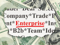 Finance concept: Enterprise on Money background