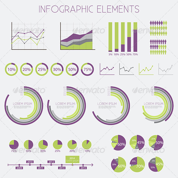 GraphicRiver Infographics Design Elements Vector Set 7154254