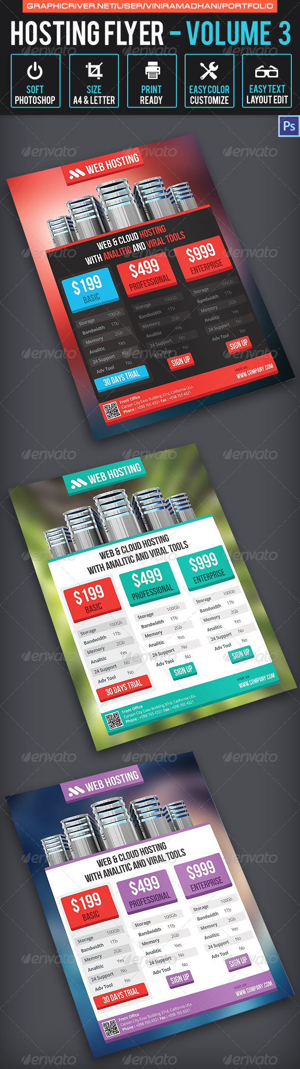 GraphicRiver Hosting Flyer Volume 3 7171104