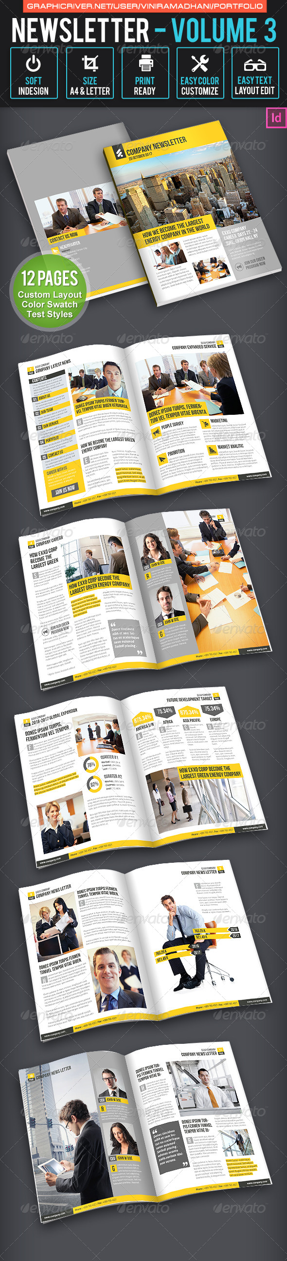 GraphicRiver Business Newsletter Volume 3 7171147