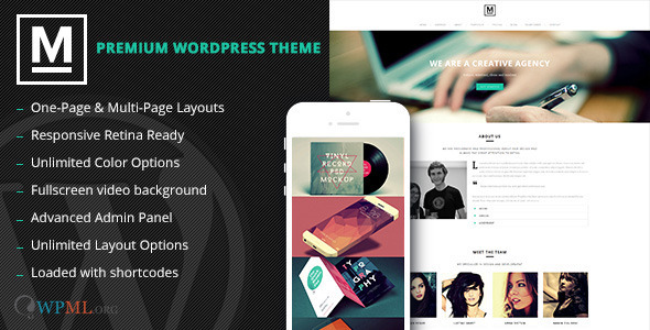 Max - Retina One Page WordPress Theme - Creative WordPress