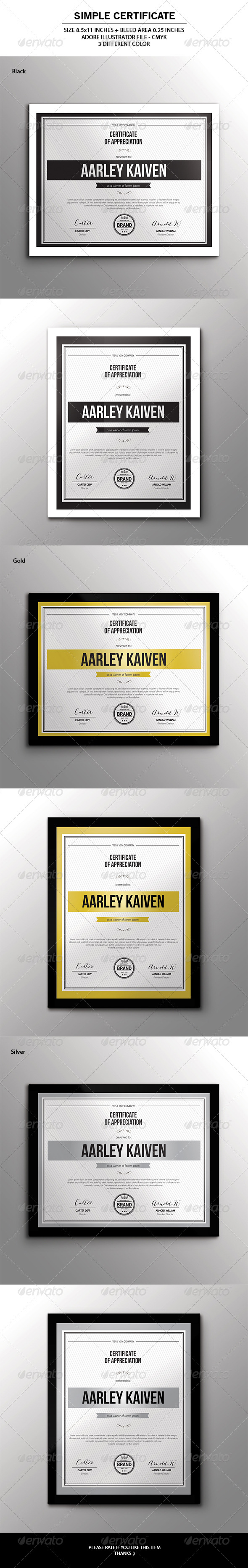 GraphicRiver Simple Multipurpose Certificates 7172885