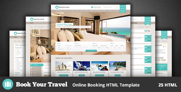 Book Your Travel - Online Booking HTML Template - Travel Retail