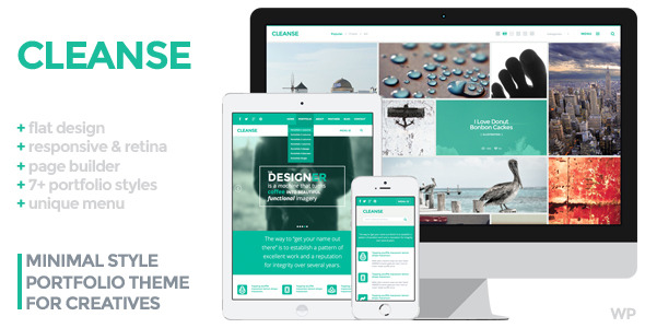 Cleanse - Minimal Style WordPress Portfolio Theme