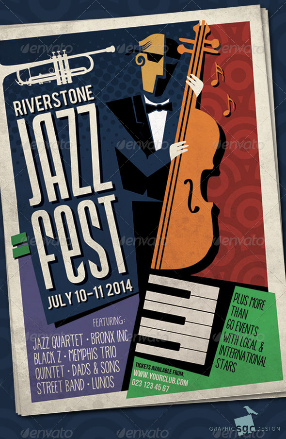 GraphicRiver Abstract Jazz Poster 7173829