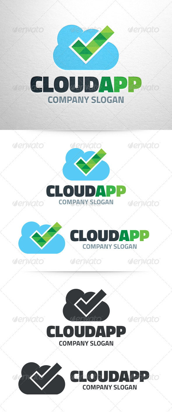 GraphicRiver Cloud App Logo Template 7173921