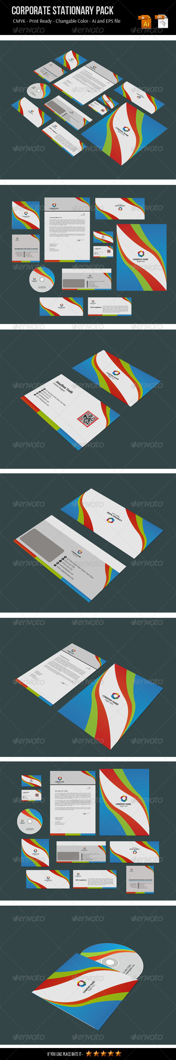GraphicRiver Corporate Stationery Pack 6632184