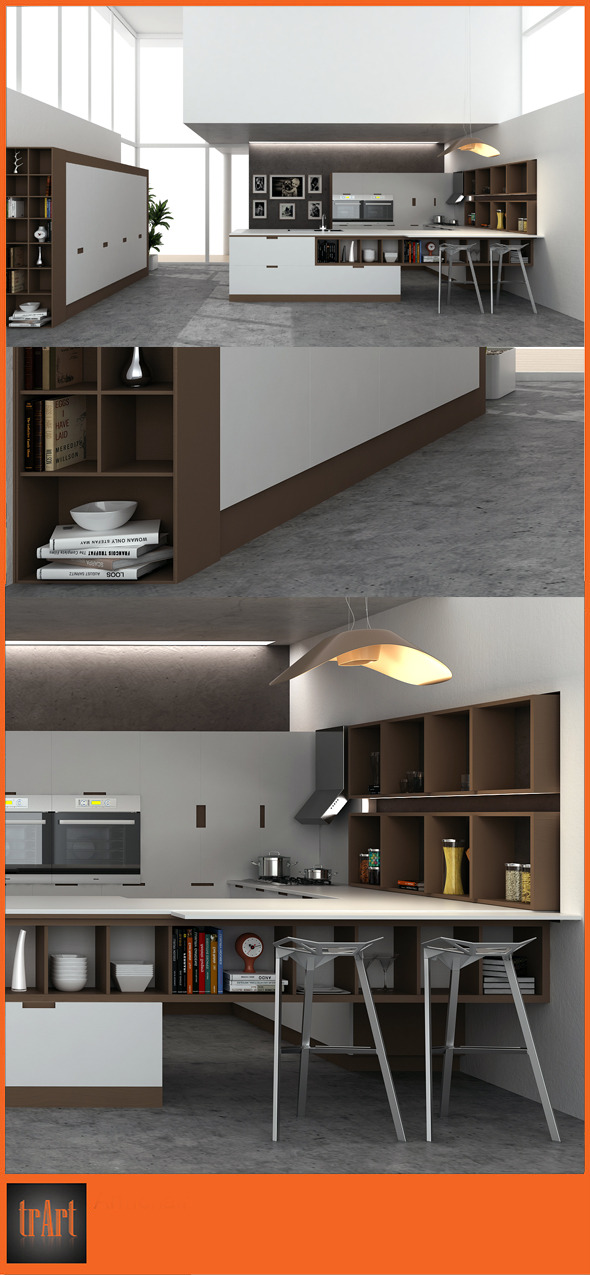 3DOcean Kitchen interior02 7174015