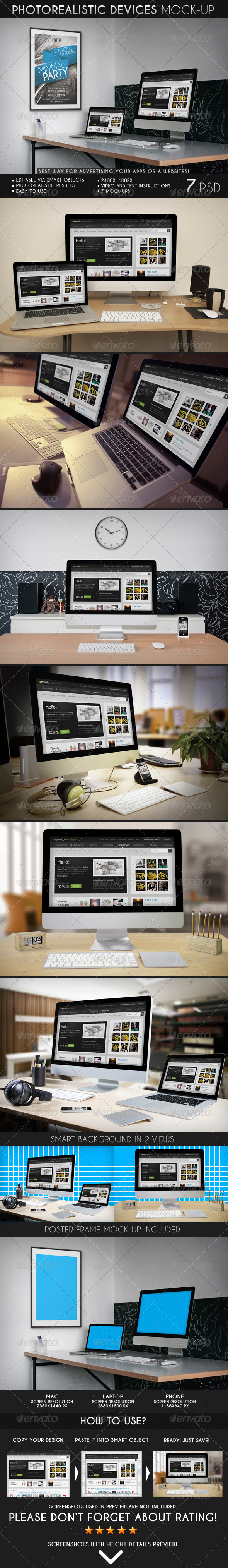 GraphicRiver Photorealistic Devices Mock-Up 7174023
