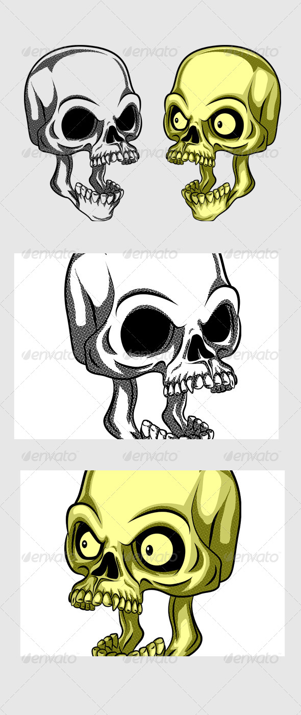 GraphicRiver Shocking Skull 7174106