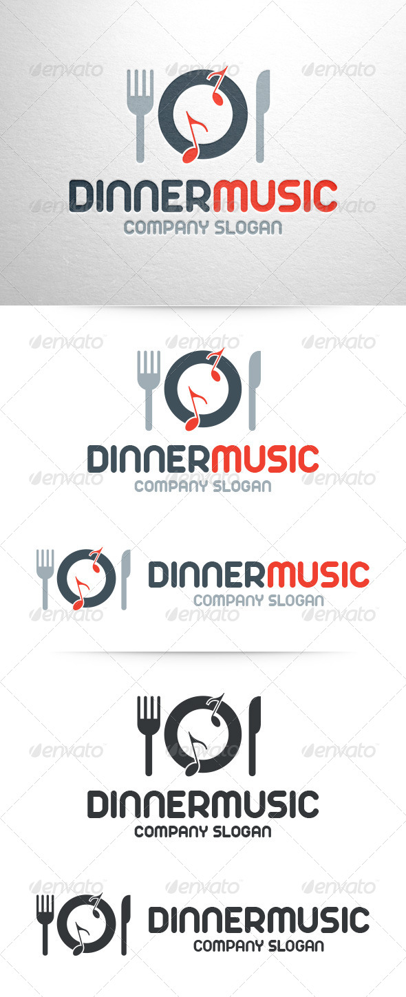 GraphicRiver Dinner Music Logo Template 7174146