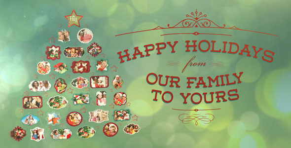 After Effects Project - VideoHive Holiday Photo Tree 752419