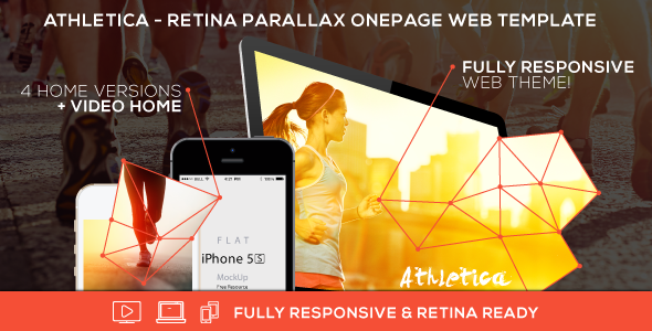 ThemeForest Athletica Retina Parallax OnePage Web Template 7175136