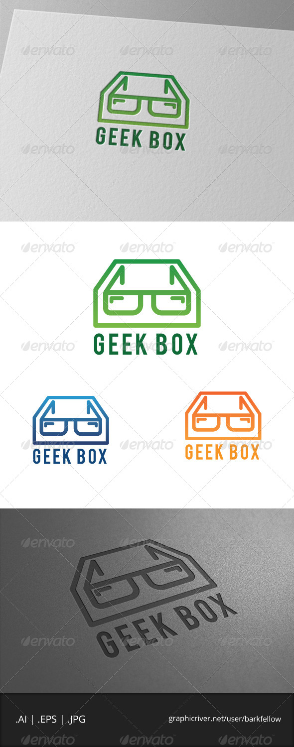 GraphicRiver Geek Box Logo Template 7175139