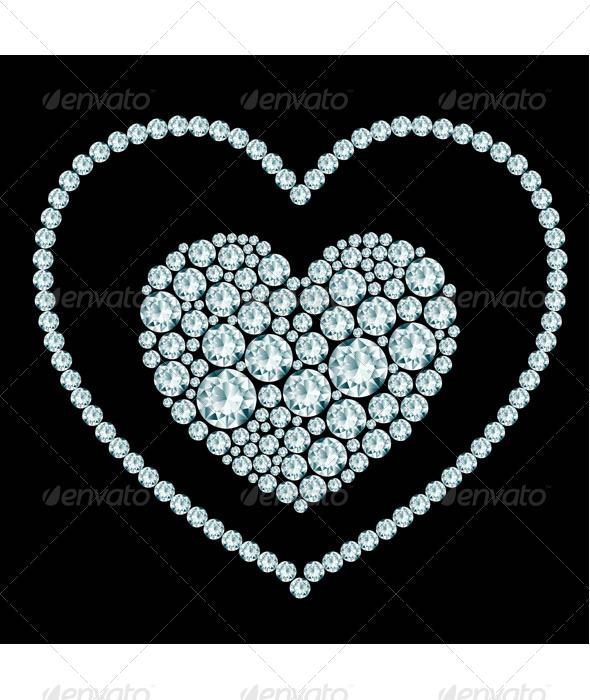 GraphicRiver Heart Diamond Composition 7175970