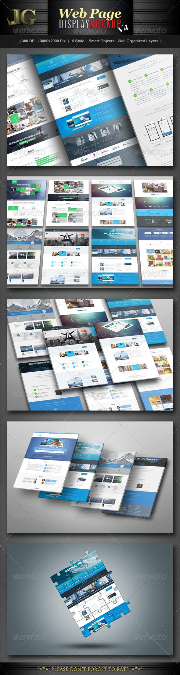 GraphicRiver Website Display Mockup V4 7176148