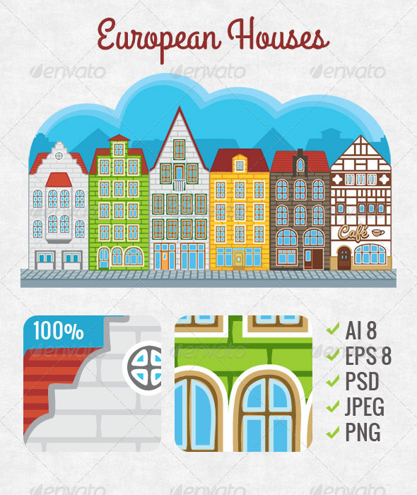 GraphicRiver European Houses 3155527