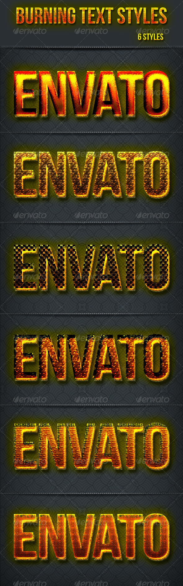 GraphicRiver Burning Text Styles 7176460