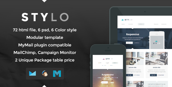 ThemeForest Stylo Responsive Email Template 7176665