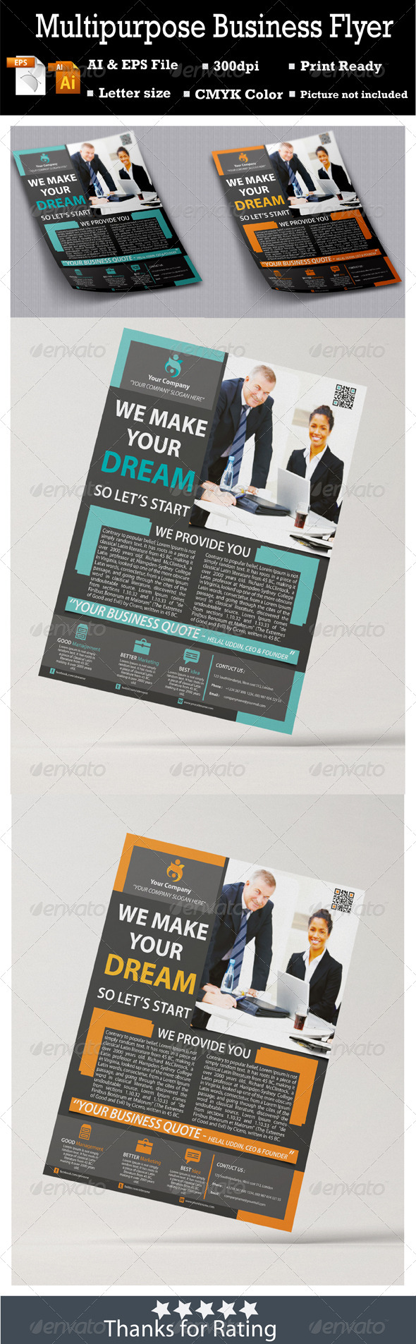 GraphicRiver Multipurpose Business Flyer 7176773