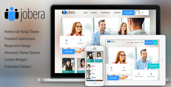 Jobera - Job Portal WordPress Theme - Directory & Listings Corporate