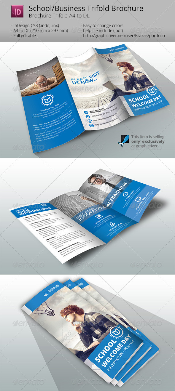 GraphicRiver Indesign Brochure Template Business School 7177201