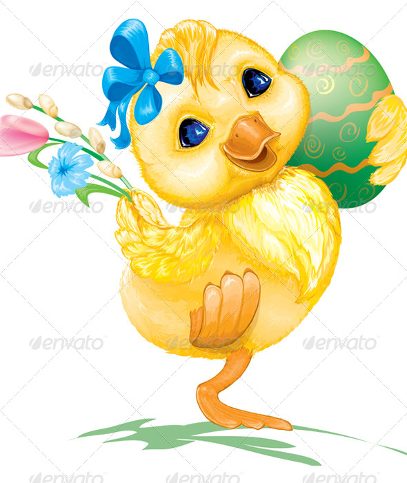 Easter Duck with Egg